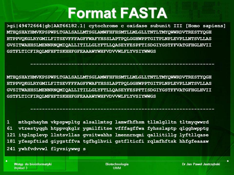 Format FASTA >gi|49472664|gb|AAT66182.1| cytochrome c oxidase subunit III [Homo sapiens]